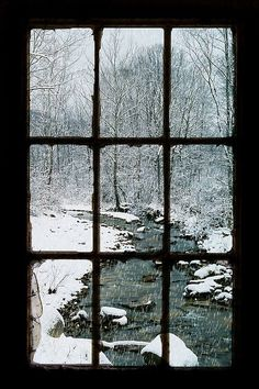 A roaring fire, a cozy blanket and a good book - with this view out the window. Winter bliss.