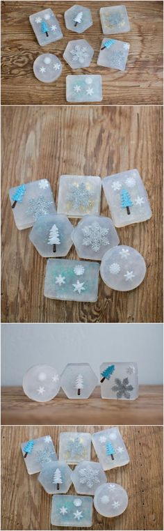 Christmas Soaps – Materials Needed: 1. Melt and pour soap base 2. Soap molds 3. Holiday themed plastic trinkets (you can find these at the craft store under the holiday ornaments – they're inexpensive and come with several pieces in one pack) 4. Glitter (optional – we used gold, blue and white) 5. Essential oils […]
