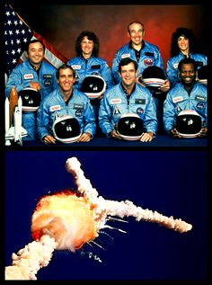 "We salute and tip our hats to real life heroes, never fogotten~  The explosion of the ""challenger"" space shuttle had everyone devastated, to say the least"