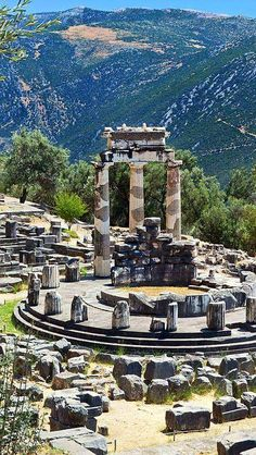 Delphi, Tholos, Temple of Athena Pronaia.