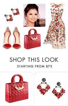 """""""sel&art 2"""" by laly-reclama ❤ liked on Polyvore featuring Oscar de la Renta, Dolce&Gabbana and Gianvito Rossi"""