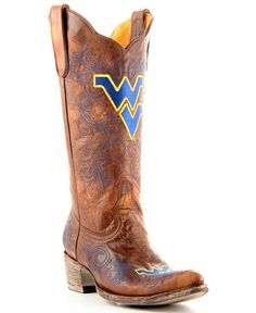 Gotta have these!!!! West Virginia University Gameday Cowboy Boots - Pointed Toe