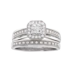 I Said Yes™ 3/8 CT. T.W. Diamond Princess-Style Bridal Set  found at @JCPenney