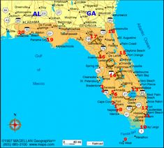 Florida Map With Cities Labeled Florida Cities Debbie