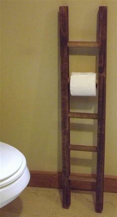 Ladder/ toilet paper holder/ rustic / by EastabrooksTreeWorks, $33.00