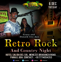 Pull out your old school mode, as Country and Rock music plays this Tuesday at Café Mojo Goa. Be there for a musical trip to the Years that have passed and have a fun night, retro style! #CafeMojo #Pubs #Party #Music #Beer #EatLocal   #Beers #Enjoy #BeerDrinks  #Parties #PartyMusic #GoodTimes  #Dance #Pub #Fun #DrinkLocal #OntheBar  #Drinks #Goa  #OnthePub  #Clubbing #Club