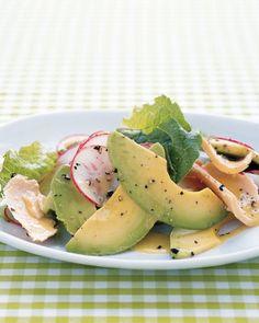 Tuna, Avocado, and Romaine Salad Recipe