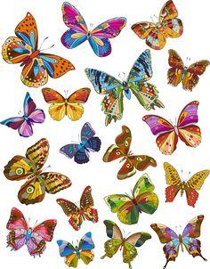 18 ilustraciones de mariposas de colores - Dibujos vectoriales | Banco de Imágenes Gratis .COM