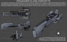http://unusualsuspex.deviantart.com/art/Crusader-class-Corvette-ortho-New-554422023