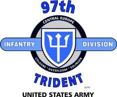 """Amazon.com: 97TH INFANTRY DIVISION """"TRIDENT"""" """" U.S. MILITARY CAMPAIGNS LAMINATED PRINT ON 18"""" x 24"""" QUARTER INCH THICK POSTER BOARD: Everything Else"""