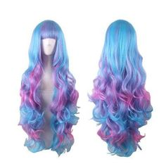 #BFCM #CyberMonday #GearBest - #Gearbest Women Gradient Colorful Cosplay Long Wig - AdoreWe.com