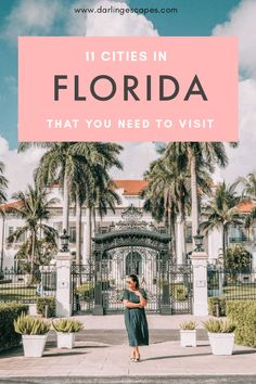 11 Cities in Florida That You Need to Visit!- 11 Cities in Florida That You Need to Visit! Traveling to Florida soon and figuring out your itinerary? Whatever you do, make sure you don't miss out on these incredible destinations in Florida! Florida Keys, Visit Florida, Florida Vacation, Florida Travel, Florida Trips, Florida Living, California Travel, Vacation Trips, Usa Travel Guide