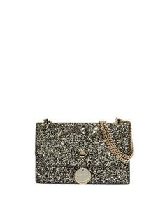 f6aff6168102 Jimmy Choo Finley Star Coarse Glitter Crossbody Bag