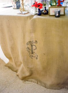 monogrammed tablecloth