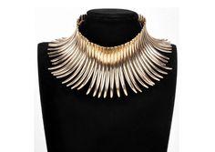 Statement gold choker necklace only at femmesroyales.com