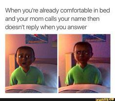 HoodGnome, mom, yelling, comfy, bed