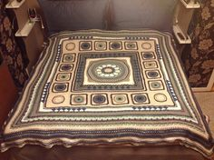 The KING Mandala throw is designed to join the QUEEN Mandala throw as well as the PRINCESS Mandala throw.