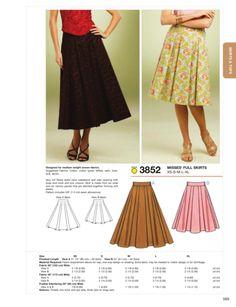 Kwik Sew - K3852 Misses' Full Skirt - WeaverDee.com Sewing & Crafts - 2