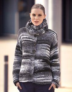 Book Woman Urban 84 Autumn / Winter | 28: Woman Jacket | White-Black