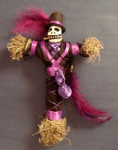Baron Samedi (Baron Saturday) the Haitian Loa of the Dead known for debauchery, sexuality, obscenity & disruption. Can grant life by curing wounds & disease. Marie Laveau's House of Voodoo