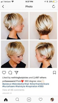 Long pixie haircut - all angles
