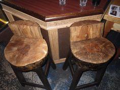 Stump Bar Stools. $225.00, via Etsy.