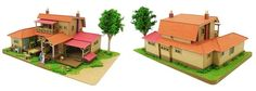 """""""When Marnie Was There"""" Ghibli papercraft"""