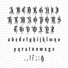 Victorian Old English Fancy Text Ornamental Installable Font Gothic Lettering, Graffiti Lettering Fonts, Lettering Styles, Script Lettering, Lettering Design, Tattoo Lettering Alphabet, Calligraphy Tattoo Fonts, Calligraphy Fonts Alphabet, Typography Alphabet