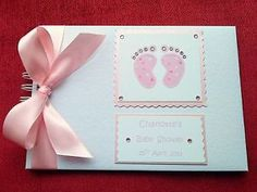 Good Baby Shower Guest Gifts | personalised a5 christening / baby shower / guest book photo album ...