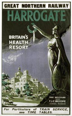 Harrogate, North Yorkshire Railway Poster