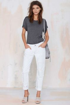 Nasty Gal Denim - The Patch It Slim - Denim | Bottoms