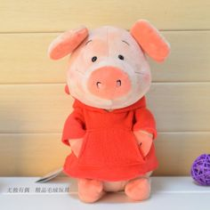 candice guo! super cute Nici Wibbly pig plush toy hoodie scarf pig soft stuffed doll birthday gift 1pc #Affiliate