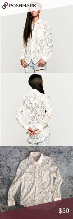 Zimmermann drifter lace shirt in white (cream) Beautiful short, lightly worn, great condition. A wonderful staple wardrobe piece. Enjoy  Zimmermann Tops