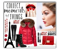 """""""Red Winter"""" by majalina123 ❤ liked on Polyvore featuring Jet Set, Christian Dior, Mulberry, Paige Denim, Free People, Kate Spade and Adia Kibur"""