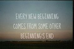 When something new begins, something has to end...