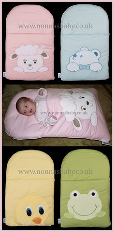 Four Fabulous Baby Nap Mats, designed to place and hold a baby for greater comfort and support!!! Find out more: http://nonnasbaby.co.uk/product-category/cotton-characters/