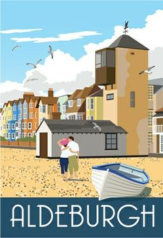 Pebbly beach, sea-gulls, fish & chips, Benjamin Britten - all a stone's throw from my doorstep. Aldeburgh.