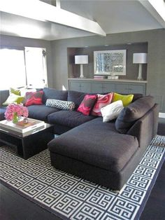 I always loved a sectional sofa - it just looks so perfect for family cuddles or afternoon naps