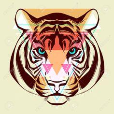 bengal tiger portrait: Tiger Fashion illustration