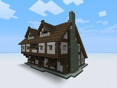 minecraft medieval maison buildings montagne building village cool build houses blueprints designs town casa inn awesome doors construction trap ideen