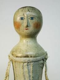 18th century doll- imagine trying to cuddle this charmer. 'Get your hands off me AT ONCE'.