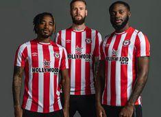 Sports Shops, Jd Sports, Brentford Fc, Black Socks, Football Kits, Red And White Stripes, Premier League, Kicks, Hollywood