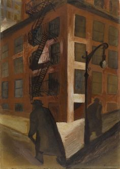 JOSE CLEMENTE OROZCO  Street Corner, Brick Building (Esquina, Edificio de Ladrillo, 1929)