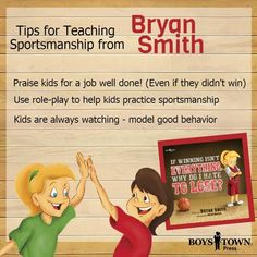 Winning is fun and losing can be hard but being a good sports is the most important. Get tips from Bryan Smith in his latest blog post here.  His newest book is a great read aloud to help kids learn what sportsmanship is get it now from Boys Town Press I boystownpress.org Teaching Kids, Kids Learning, Bryan Smith, Help Kids, Read Aloud, Social Skills, Asd, New Books, Teen