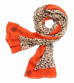 cheetah print scarf / tory burch