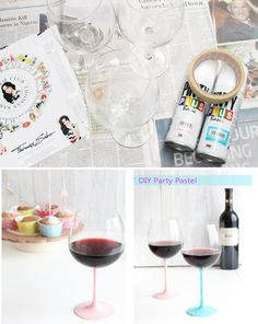 Paint the stems. | 24 Clever Things To Do With Wine Glasses