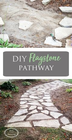 The difference is amazing! We had a spot where the grass was all worn off and in-between two flowerbeds. Putting a flagstone pathway in was the best decision by far. It looks so good! #flagstone #pathway #landscaping #walkway #rock
