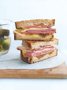 rustic french kitchen new york deli sandwich - recipes - donna hay Nice, France sunset on the Eiffel tower Deli Sandwiches, Delicious Sandwiches, Sandwich Recipes, Sandwich Shops, Donna Hay Recipes, Ny Food, Perfect Food, Quick Meals, The Best