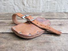 vintage c. 1950s Boy Scouts leather craft hatchet cover sheath // belt bag pouch. $21.00, via Etsy.