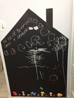 chalkboard house Time da Dany casinha lousa na parede DIY
